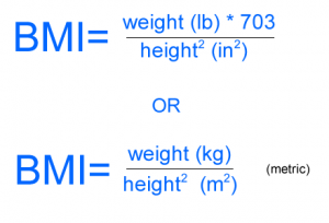 Body Mass Index Formula (BMI)